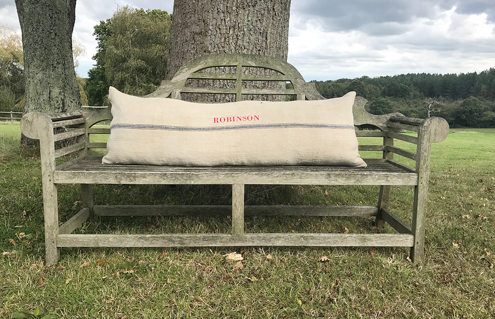 Vintage Grain Sack Cushions